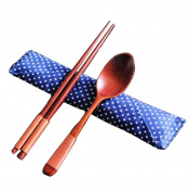National Style Portable Tableware Wooden Spoon & Chopsticks