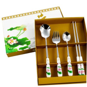 The Chinese Style Stainless Steel Tableware Serving Spoons,Chopsticks