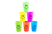 """Happy Smile """"Kids Cups"""" Set of Six, Reusable and washable"""