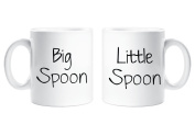 Big Spoon Little Spoon Mug Set Novelty Anniversary Valentines Cup Ceramic