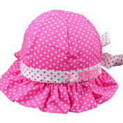 Ama-ZODE New Sweet Cute Baby Girls Children Sun Polka Dot Summer Hats Caps 4 Colours