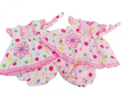 BNWT Baby girls flower & spotty summer dress knickers & hairband