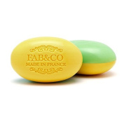 Fab & Co Triple Milled Shea Butter Enriched Dual Scented French Soap - Grapefruit and Verbena - 210ml