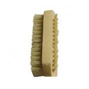 A.H® Hand Food Washing Fingernail Nail Brush Bristle & SPA Oil Massage Brush, Wood Handle & Natural Bristle Manicure Brush