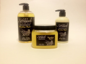 Scrubbed Three Piece Set Brooklyn Night Vegan Scrub Lotion Body Wash