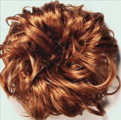 LACEY 7.6cm Pony Fastener Hair Scrunchie 27A Strawberry-Copper Blonde