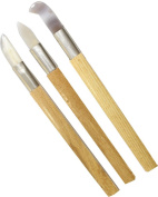 3 Piece 22cm Clay and Wax Carving Tools, Made of Genuine Agate Gem Stone