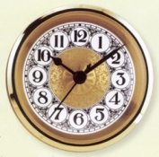 Clock Fitup 7.6cm - 1.3cm Arabic Numerals on Gold Fancy Dial - 3 Pack
