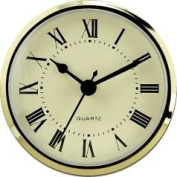 Clock Fitup 7.6cm - 1.3cm Roman Numerals on Ivory Dial - 1 Pack