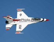 Thunderbird 6 performing a high speed flyby