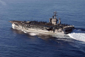 USS Nimitz (CVN 68) underway along the coast of California