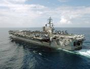USS Ronald Reagan (CVN 76) transits the Bay of Bengal