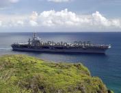 USS Nimitz (CVN 68) near Orote Point, Apra Harbour, Guam