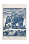 thomaspaul Elephant Etching Bath Mat, 60cm by 90cm