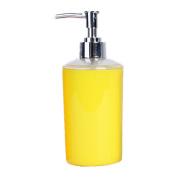 Acrylic Lotion Dispenser Bottle Yellow