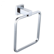 Comfort's Home TR6015 Square Hand Towel Ring Chrome