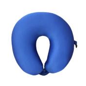 Neck Pillow Dark Blue Lycra U Shaped Travel Pillow