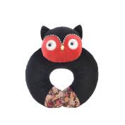 Neck Pillow Black Owl U Shaped Travel Pillow