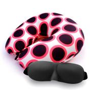 Neck Pillow Black Polka Dot Pattern U Shaped Travel Pillow