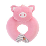 Neck Pillow Cotton Pig Pattern U Shaped Travel Pillow