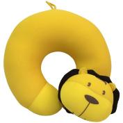 Neck Pillow Yellow Cartoon Pattern U Shaped Travel Pillow