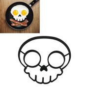 Silicone Rubber egg mould Non-stick Skull Eggs Fried Frying Mould Pancake Mould black