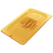 Rubbermaid Commercial Products FG234P00AMBR Hot Food Pan, Full Size, Lid, Amber