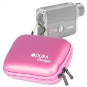 DURAGADGET High Quality Pink Hard EVA Rangefinder Case / Box for Bushnell G-Force DX 6x21mm ARC Laser Rangefinder - with Carabiner Clip & Twin Zips