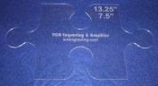 Large Puzzle Template - Clear 0.3cm - Applique