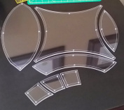 Double Wedding Ring Acrylic Quilting Template Set, 0.6cm Seam Allowance - 7 Pieces