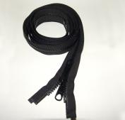 Zipper, 100cm Inch, YKK, Black, #8, Seperating Zipper, Double Metal Slider, Boat Canvas