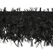 Expo International Hairy Gimp Fringe Trim Embellishment, 10-Yard, Black