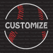 Split Baseball Iron On Rhinestone Transfer with Your Custom Name or Word by Jubilee Rhinestones