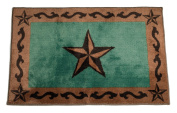 HiEnd Accents Star Print Rug, 60cm by 90cm , Turquoise