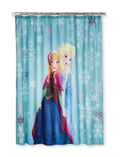 Disney Frozen Shower Curtain with Anna and Elsa. Loving Sisters