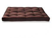 Artiva USA Home Deluxe 20cm Futon Sofa Mattress with Inner Spring Made in US Best Quality for Long-lasting Use, Full, Solid, Espresso/ Brown