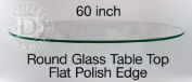 150cm Round Glass Table Top, 1.3cm Thick, Flat Polish Edge