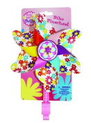 Bike Handlebar Pinwheel - Spinning Flower Pinwheel for Kid's Bicycle - Snaps on for Easy Attachment