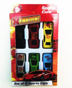 6 Pcs Die Cast Sports Racing Car Vehicle Play Set Cars Kids Boys Toy