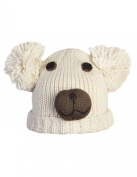 Teddy Bear Face Knitted Hat