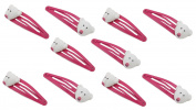 Zest 10 Christmas Hair Clips Slides Hair Accessories Pink