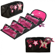 Official Betty Boop Cosmetic Travel Wrap Make Up Bag With 4 x Individual Sections For Easy Storage