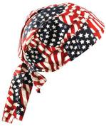 1EA-Tie Hat Doo Rag - 100% Cotton - WVYFLAG-One-Size