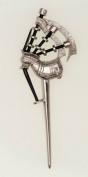 100% Pewter 111 Scottish Bagpipe Kilt Pin, By Art Pewter
