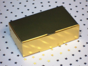 25 x Satin GOLD cake favour boxes 100x60x30mm