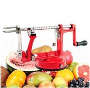 Denshine (TM) 3 in 1 Apple Potato Fruit Stainless Steel Slinky Peeler Corer Cutter Slicer Machine Stand Kitchen Tool