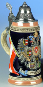 Traditional German Beer Stein - Austria Coat of Arms Stein 0.4L