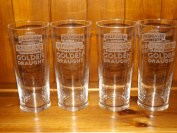 MAGNERS EXTRA COLD GOLDEN DRAUGHT PINT GLASS x 4. A SET OF 4 MAGNERS EXTRA COLD GOLDEN DRAUGHT PINT GLASSES