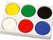 6 Watercolour Paint Blocks & Palette for Kids Arts