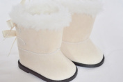 MODERN IVORY BOOTS FOR AMERICAN GIRL DOLLS